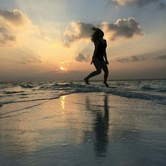 Jump on the beach in Maldives  #travel #indianocean #beach #sunset #jumping #vacation #destinations