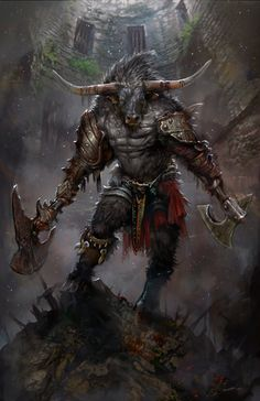 "creaturesfromdreams: "" Minotaur by PabloFernandezArtwrk """