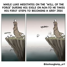 While I don't want him to become a gray Jedi, this is funny!