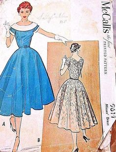 Vintage McCall's Sewing Pattern 9611 Size 13 Misses' Dress Sizes 12-20