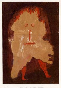 Paul Klee (1879-1940), Lumpengespenst (Ragged Ghost), 1933 (465). Paste colours on paper on cardboard. (Kunstmuseum Bern)