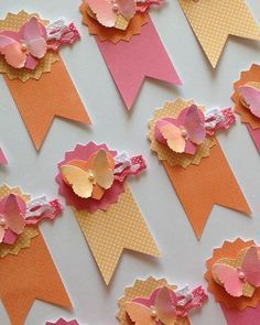 I used the watercolor butterflies that I created to make some embellishments…