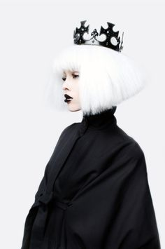 'Faint Magazine Editorial by Leriam Gonzalez on Flickr.'  Stylist: Mia Tucker Williams |  Hair and Makeup: Britt Cochran | Model: April Camp from Red Model Managment. #whitewig #wigs