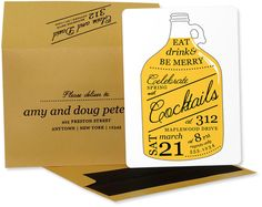 Cider Jug Cocktail Party Invitations by Mountaincow