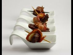 My Sweet Salty Gluten Free Bacon Date Rolls are probably one of the most unattractive appetizers out there, but they are so yummy. When I make these for dinn. Bacon Dates, Bacon Wrapped Dates, Gluten Free Recipes Videos, Gluten Free Party Food, Date Rolls, Sweet And Salty, Glutenfree, Food Videos, Food To Make