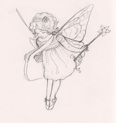 Sketch Idea for a Tooth Fairy Kit 1 by LewisiaDreaming on Etsy