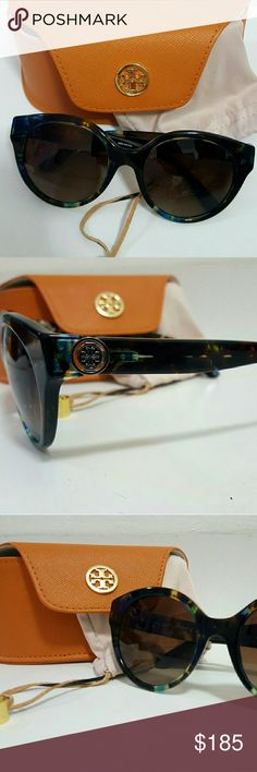 Tory Burch polarized TY7087 Authentic Tory Burch round multicolor polarized sunglasses without tags, never worn. Excellent conditions. Includes original case and cloth. Tory Burch Accessories Sunglasses