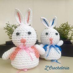 Todo prontos para Páscoa?  #amigurumi #baby #pascoa2016 #babygirl #babylove #coelhinho #crochet #croche #amigurumis #bunny by zcrocheteria