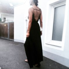All Black Everything, Backless, High Neck Dress, My Style, Dresses, Fashion, Turtleneck Dress, Gowns, Moda