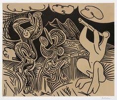 Pablo Picasso Danseurs et musicien (Dancers and musician), 1959