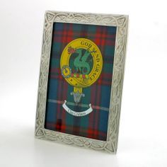 Clan Crest in Pewter Frame