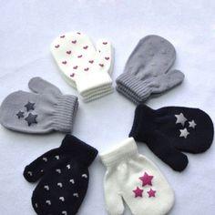 Pudcoco Rękawice Zimowe Cute Baby Drutach Ciepłe Miękkie Rękawice Rękawice Dla Dzieci Chłopcy Dziewczęta Cukierkowe Kolory Unisex Hot Sprzedaż