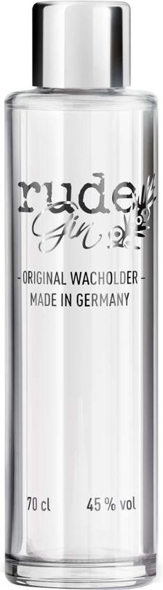 Gin von Rude Spirits in der 0,7 l Flasche mit 45% Vol. Alc.