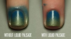 It's basically a liquid that you can paint on to your skin and nails wherever you don't want nail polish to go.