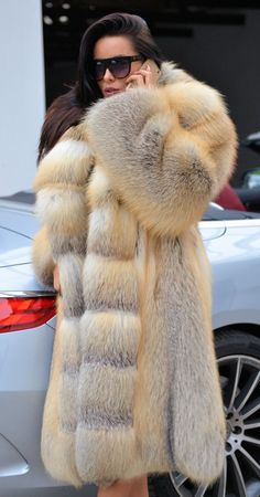 Material: Real Silver Fox Fur Hood Placket Cuff, Rex Rabbit Fur Lining. All of our furs (Fox/mink/rabbit/raccoon/sheep) are from Fur farms, not wild animals. Fur Fashion, Womens Fashion, Ladies Fashion, Long Fur Coat, Fox Coat, Curvy Petite Fashion, Fur Clothing, Fabulous Furs, Fur Collars