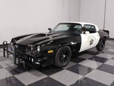 """The 1979 camaro from the 1982 film """"THE JUNKMAN"""". 1979 Camaro, Chevrolet Corvette, Us Cars, Sport Cars, Old Police Cars, Emergency Vehicles, Police Vehicles, California Highway Patrol, Police Patrol"""