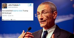 Clinton Campaign Chairman John Podesta's Twitter Hacked: Account breach follows dump of Podesta emails from WikiLeaks