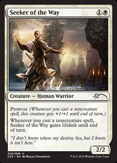 Seeker-of-the-Way-FOIL-x4-Magic-the-Gathering-4x-Clash-Pack-Promos-mtg-card-NM