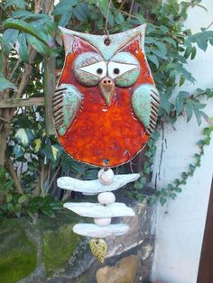 Risultati immagini per garten keramik Ceramic Birds, Ceramic Animals, Clay Animals, Ceramic Clay, Clay Owl, Clay Birds, Clay Art Projects, Ceramics Projects, Clay Crafts