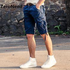 Cargo Shorts Mens Casual Cotton Brand Short Mens Comfortable Outdoors Short Men Cotton Men's Classic Cotton Pocket Shorts 134
