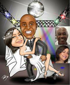 Caricatura linda feito para Sônia usar em seu casamento. Ela vai confeccionar os convites e vai usar o desenho em canecas e banners !!! Fica maravilhoso e sua festa vai ser inesquecível !! Felicidades ao casal !!! www.ricksucaricaturas.com.br