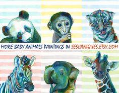 Aquarelle PANDA ART print pépinière de panda par SesCaniques