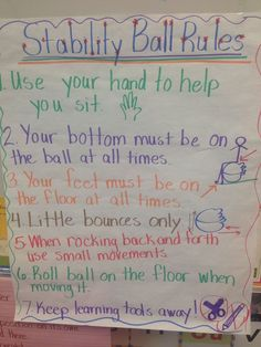 Image result for flexible seating anchor chart