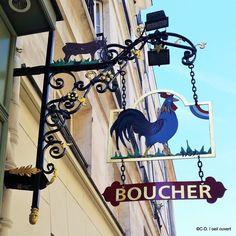 Le coq - enseigne de bouche - 7ème Ardt Paris