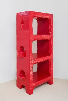 Max Lamb, Red Poly Bookcase, 2016, Gallery FUMI