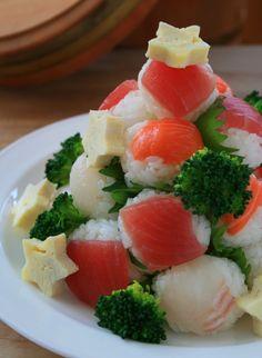 寿司屋のおかみさん小話 節約クリスマスツリー寿司 レシピ