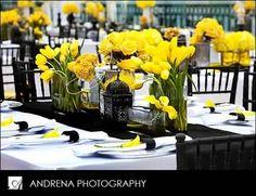 Yellow and black modern elegance wedding in santa barbara yellow thinking of a yellow and black wedding theme i love this yellow and black wedding theme junglespirit Images