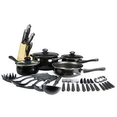 32-Piece Set: Complete Aluminum Nonstick Cookware & Utensils at 51% Savings off Retail!