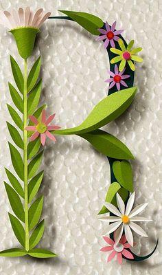 Flowers & Paper Monograma flores de papel DIY