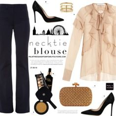 Fall Trend: Necktie Blouse / Givenchy Silk-chiffon ruffled neck-tie blouse