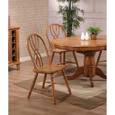 ECI Furniture Rustic Oak Missouri Single Pedestal Table