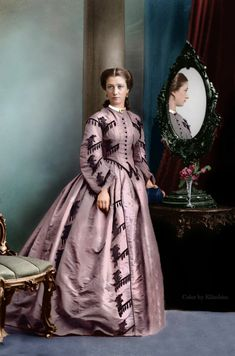 Colorized Image ca. Mid to Late 1860s