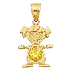 Ioka 14K Yellow Gold Elephant Charm Pendant Mix and Match For Bracelet or Necklace or Chain