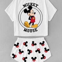 Cute Disney Outfits, Cute Lazy Outfits, Teenage Outfits, Outfits For Teens, Trendy Outfits, Disney Pjs, Cute Pajama Sets, Cute Pjs, Cute Pajamas