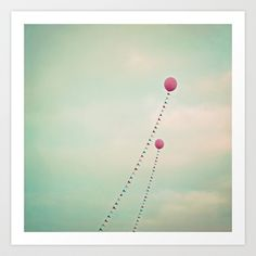 Whimsical Balloons Art Print by Laura Ruth  - $19.00