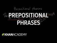 Prepositional phrases are word chunks that begin with a preposition.