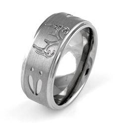 Polished Antlers Titanium Ring