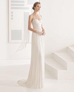 Nadine vestido novia de seda.