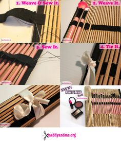DIY: Make Up Brush Roll Awesome!!! So easy and so functional <3