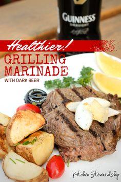 Healthy Grilling Meat Marinade Recipe with Dark Beer