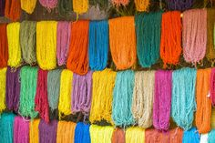 Colourful soft alpaca wool, ready to be used for ZAZU's knitwear :)