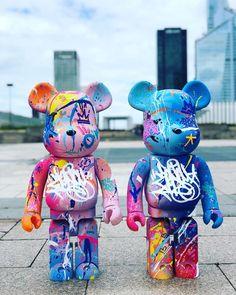 Les #bearbrick de #zenoy disponibles chez @nous.paris avec aussi des pavés et boîtes aux lettres. Yarn Bombing, Bearbrick, Kaws Iphone Wallpaper, Graffiti, Figure Model, Bricks, Ibiza, Modern Art, Street Art
