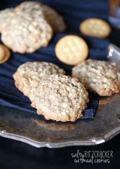 Salty Ritz Cracker Oatmeal Cookies