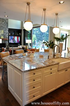 Large Kitchen Island Isabella & Max Rooms: Street of Dreams Portland Style - House 4