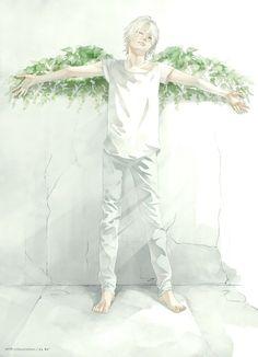 Anime Manga Junge Engel... Flügel