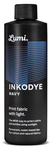 Inkodye - Navy - 8oz / 237ml  Photo sensitive dye for fabric. Must buy and try. Result like photograms or cyanotypes :-)